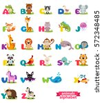 cute english illustrated zoo... | Shutterstock .eps vector #572348485