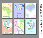 set of artistic colorful... | Shutterstock .eps vector #572349139