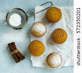 homemade muffin with cinnamon... | Shutterstock . vector #572350201