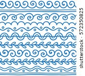 vector greek wave and meander... | Shutterstock .eps vector #572350825