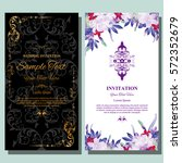 wedding invitation or greeting... | Shutterstock .eps vector #572352679