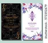 wedding invitation or greeting... | Shutterstock .eps vector #572352679