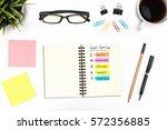 smart goal setting on spiral... | Shutterstock . vector #572356885