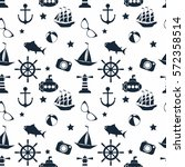 vector seamless pattern with... | Shutterstock .eps vector #572358514