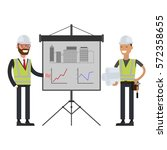 construction workers team and... | Shutterstock .eps vector #572358655