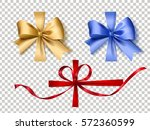 attractive ribbons set  three... | Shutterstock .eps vector #572360599