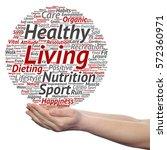 concept or conceptual healthy... | Shutterstock . vector #572360971