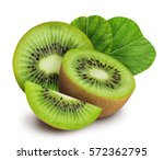 Kiwi Isolated On White...