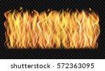 vector wall of transparent fire.... | Shutterstock .eps vector #572363095