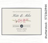 save the date wedding... | Shutterstock .eps vector #572363944