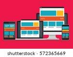 responsive computer concept... | Shutterstock .eps vector #572365669