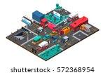 accident on crossroad design... | Shutterstock .eps vector #572368954