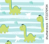 cute seamless pattern with... | Shutterstock .eps vector #572370934