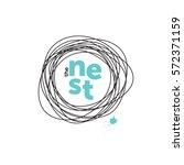 The Nest Creative Logo. Robin...