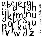 hand drawn black lowercase...   Shutterstock .eps vector #572371789