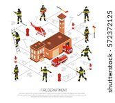 colored isometric fire... | Shutterstock .eps vector #572372125