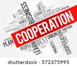 cooperation word cloud collage  ... | Shutterstock .eps vector #572375995
