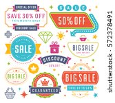sale labels and tags design... | Shutterstock .eps vector #572378491