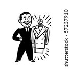 a brand new suit   retro clip... | Shutterstock .eps vector #57237910