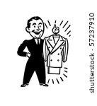 a brand new suit   retro clip... | Shutterstock .eps vector #57237910