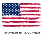 grunge american flag.vector... | Shutterstock .eps vector #572379805