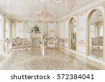 luxurious vintage interior with ... | Shutterstock . vector #572384041