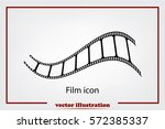 film icon vector illustration. | Shutterstock .eps vector #572385337
