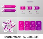 vector infographic set.... | Shutterstock .eps vector #572388631