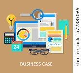 business elements set. vector... | Shutterstock .eps vector #572389069