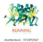 running marathon  people run ... | Shutterstock .eps vector #572392567
