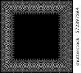 vector decorative border. white ...   Shutterstock .eps vector #572397364