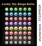 lucky six bingo balls | Shutterstock .eps vector #572399029