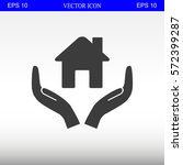 house vector icon | Shutterstock .eps vector #572399287