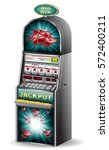 casino slot machine jackpot... | Shutterstock .eps vector #572400211