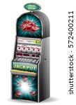casino slot machine jackpot...   Shutterstock .eps vector #572400211