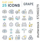 set vector line icons  sign and ... | Shutterstock .eps vector #572402275