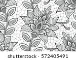 seamless lace floral pattern | Shutterstock .eps vector #572405491