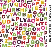 seamless pattern with letters.... | Shutterstock .eps vector #572410285
