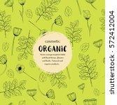 vector vintage template label... | Shutterstock .eps vector #572412004