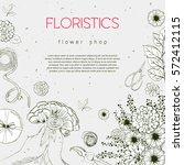 vector design banner for flower ... | Shutterstock .eps vector #572412115