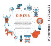 circus collection with carnival ... | Shutterstock .eps vector #572412181