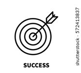 success icon or logo in modern... | Shutterstock .eps vector #572413837