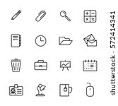 set of stationery icons in... | Shutterstock .eps vector #572414341