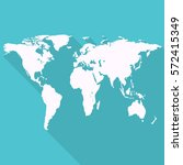 earth map for bussines. flat... | Shutterstock .eps vector #572415349
