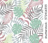 tropical background with palm... | Shutterstock .eps vector #572416555