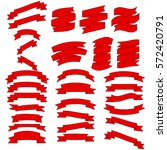 ribbon vector icon set red... | Shutterstock .eps vector #572420791