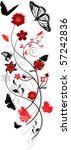 floral ornament with... | Shutterstock .eps vector #57242836
