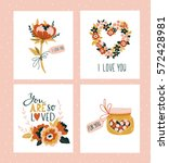 vector illustration. valentines ... | Shutterstock .eps vector #572428981