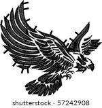 eagle embroidery design | Shutterstock .eps vector #57242908