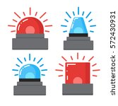 red and blue flashing emergency | Shutterstock .eps vector #572430931